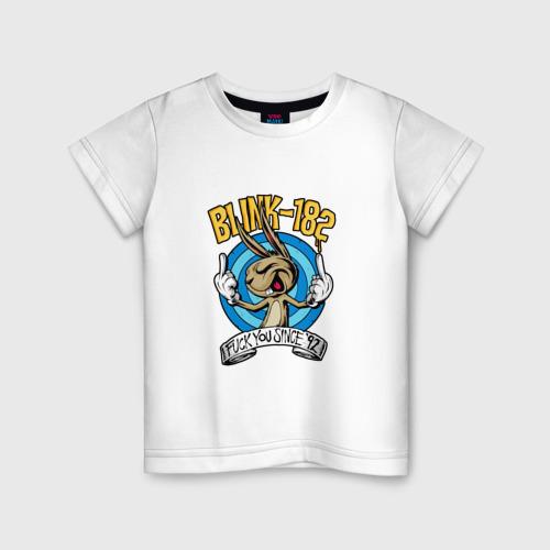 Детская футболка хлопок Заяц Blink-182