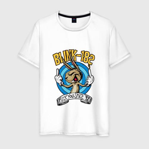 Мужская футболка хлопок Заяц Blink-182