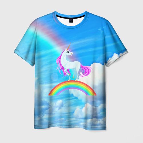 Мужская футболка 3D Единорог