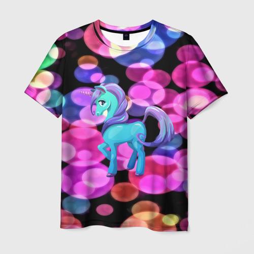 Мужская футболка 3D Милый единорог