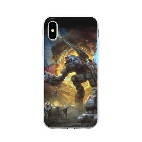 Чехол для iPhone X матовый BattleTech