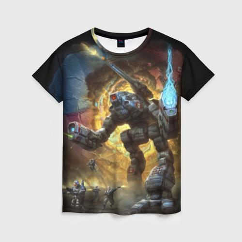 Женская футболка 3D BattleTech