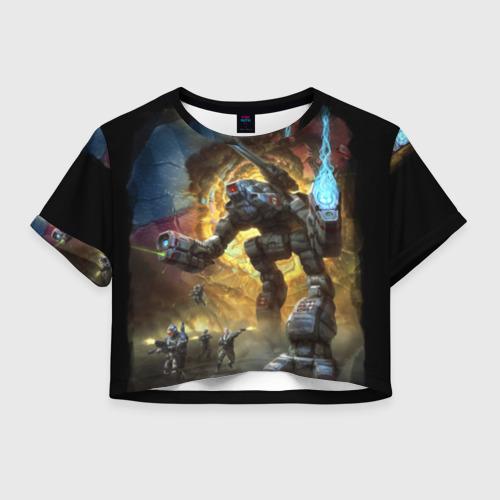 Женская футболка Crop-top 3D BattleTech