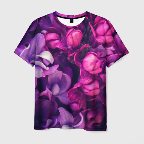 Мужская футболка 3D Тюльпановый сад