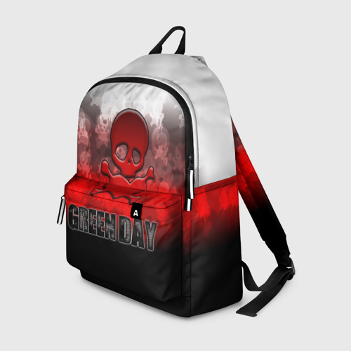 Рюкзак 3D Череп и сердце Green Day