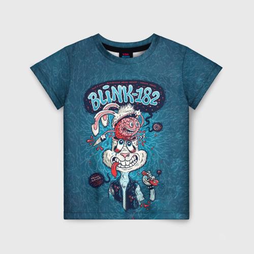 Детская футболка 3D Заяц Blink-182