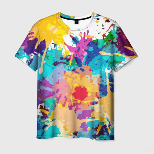 Мужская футболка 3D Пятна краски