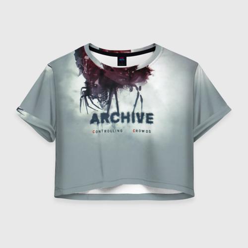 Женская футболка Crop-top 3D Archive controlling crowds