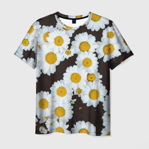 Мужская футболка 3D АРОМАШКИ | РОМАШКИ | 8 МАРТА,