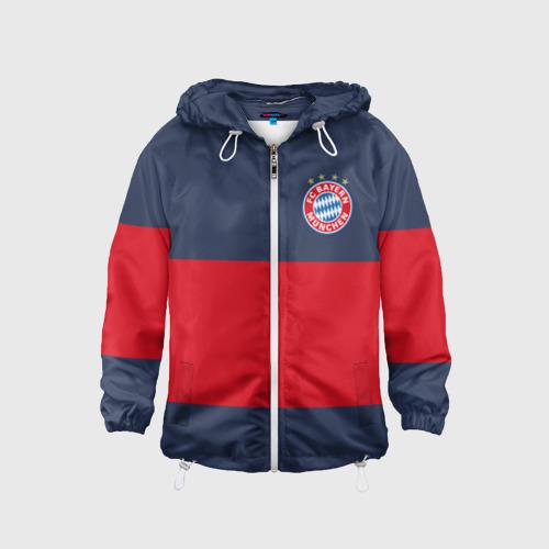 Детская ветровка 3D Bayern Munchen - Red-Blue FCB (2018 NEW)