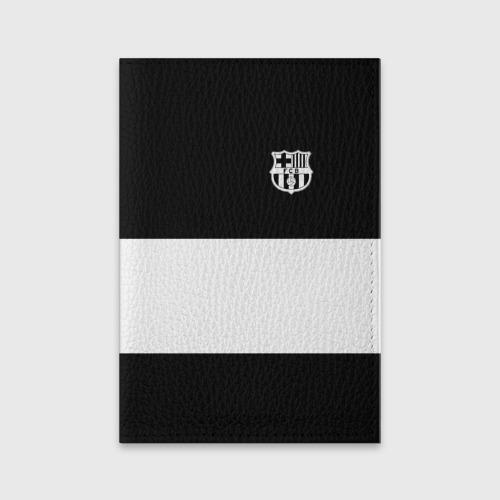 Обложка для паспорта матовая кожа FC Barcelona Black Collection