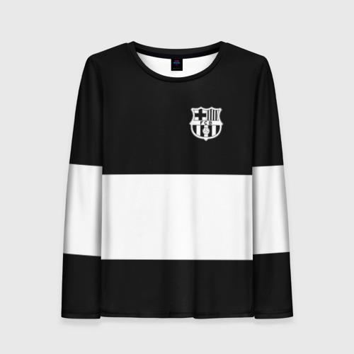 Женский лонгслив 3D FC Barcelona Black Collection