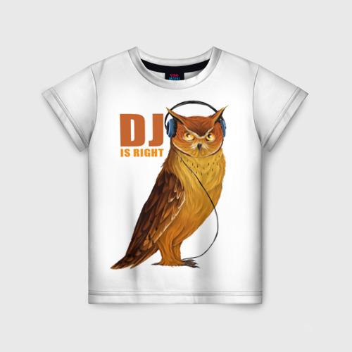 Детская футболка 3D Диджей прав