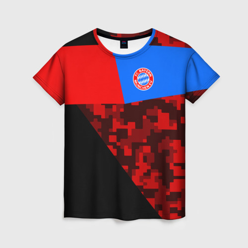 Женская футболка 3D ФК Бавария 2018 Спорт