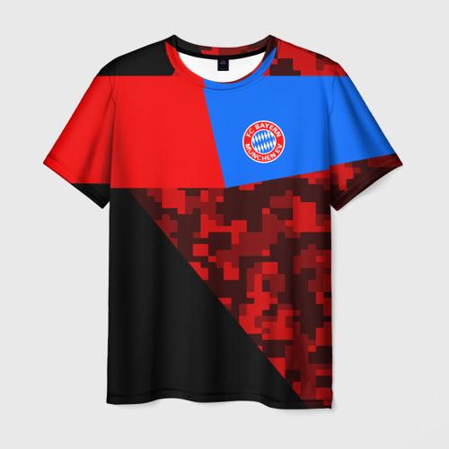 Мужская футболка 3D ФК Бавария 2018 Спорт