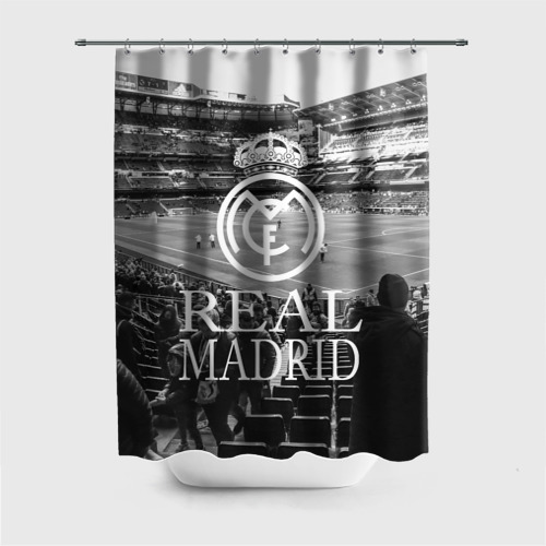 Штора 3D для ванной REAL MADRID bw