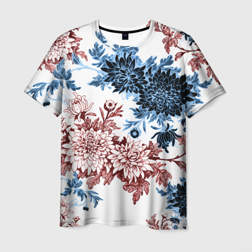 Мужская футболка 3D Blue and Red