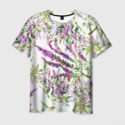 Мужская футболка 3D Лаванда