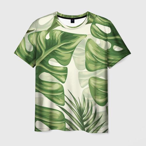 Мужская футболка 3D Папоротник