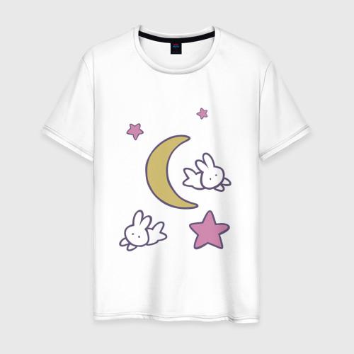 Мужская футболка хлопок Луна