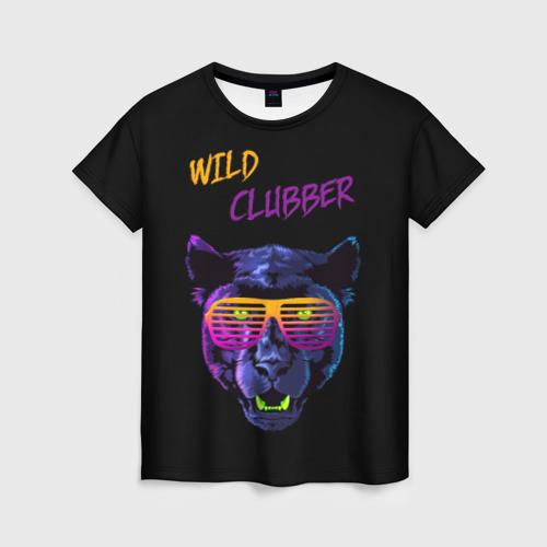 Женская футболка 3D Дикий тусовщик