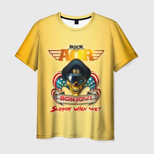 Мужская футболка 3D Bon Jovi, slippery when wet