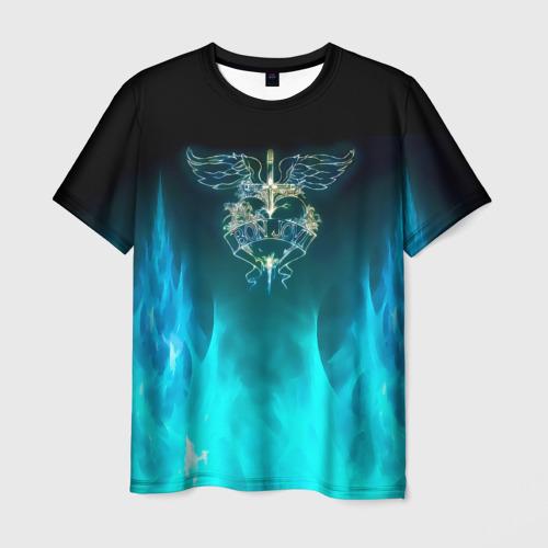 Мужская футболка 3D Сердце Bon Jovi