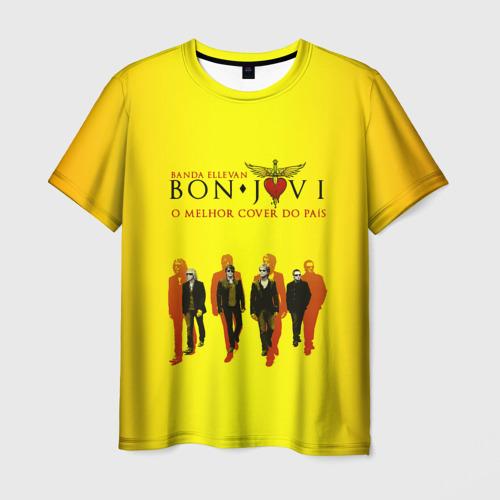 Мужская футболка 3D Группа Bon Jovi
