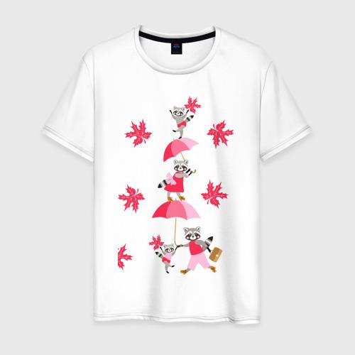 Мужская футболка хлопок Осень