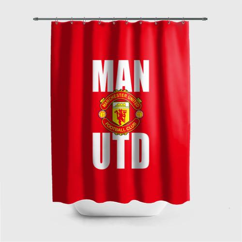 Штора 3D для ванной Manchester United