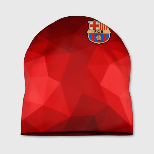 Шапка 3D FC Barcelona red polygon 2018