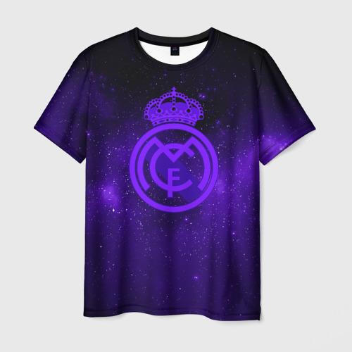 Мужская футболка 3D FC Real Madrid(SPACE STYLE)