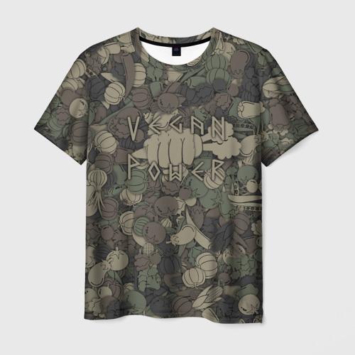 Мужская футболка 3D Vegan power