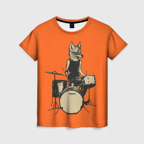 Женская футболка 3D Drums