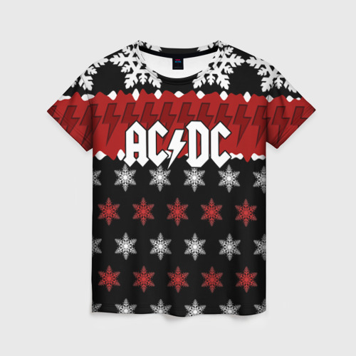 Женская футболка 3D Праздничный AC/DC