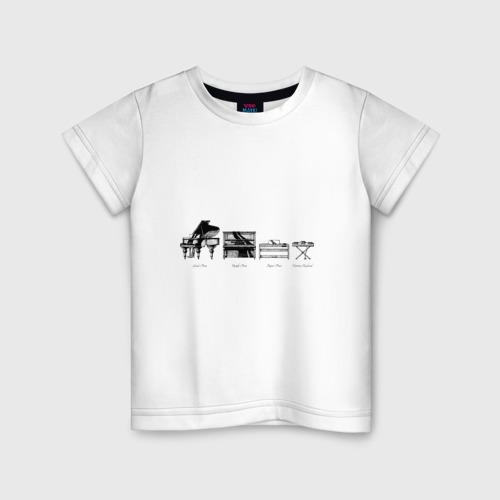 Детская футболка хлопок Piano