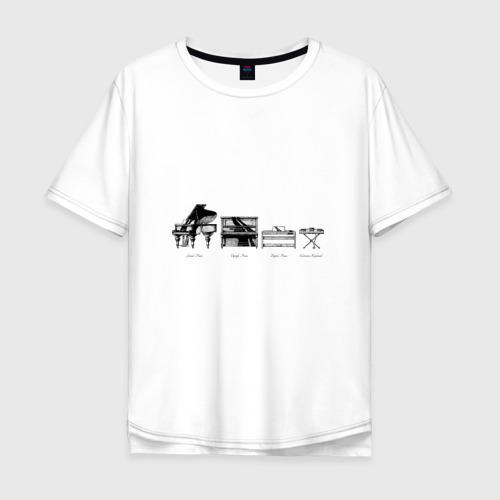 Мужская футболка хлопок Oversize Piano