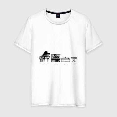 Мужская футболка хлопок Piano