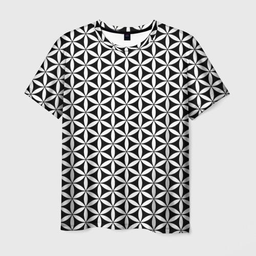 Мужская футболка 3D Цветок Жизни