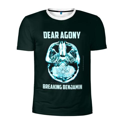 Мужская футболка 3D спортивная Dear Agony, Breaking Benjamin