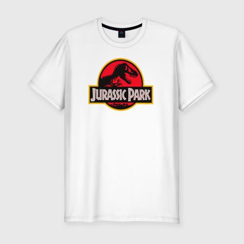 Мужская футболка хлопок Slim Парк Юрского Периода