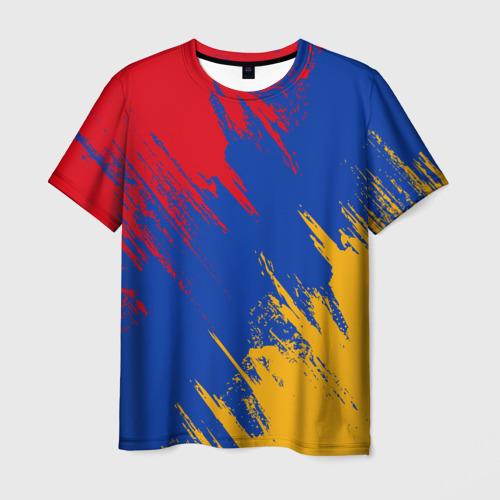 Мужская футболка 3D Флаг Армении