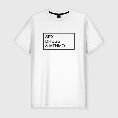 Мужская футболка хлопок Slim МГИМО