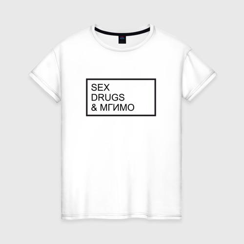 Женская футболка хлопок МГИМО