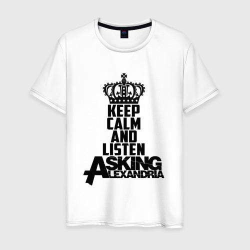 Мужская футболка хлопок Keep calm and listen AA