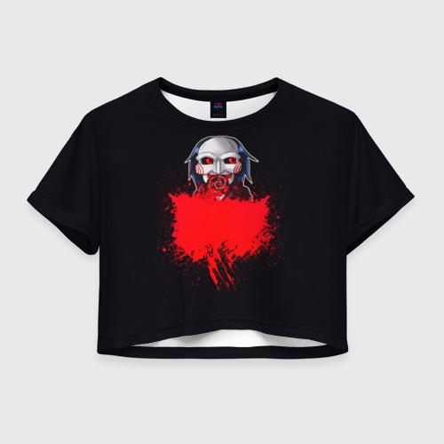 Женская футболка Crop-top 3D Пила