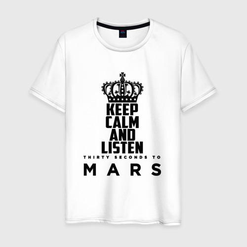 Мужская футболка хлопок Keep calm and listen 30 S to M