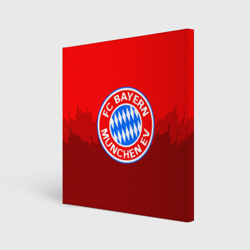Холст квадратный FC Bayern 2018 Paints
