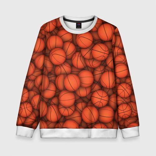 Детский свитшот 3D Баскетбольные мячи