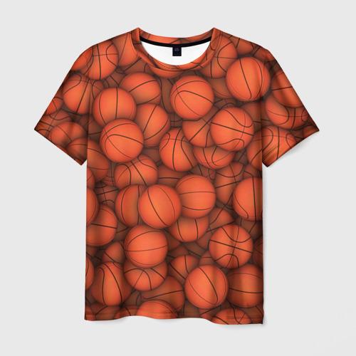 Мужская футболка 3D Баскетбольные мячи